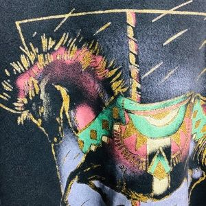 Vintage Sweaters - Vintage 80's/90's Carousel Horse Sweater